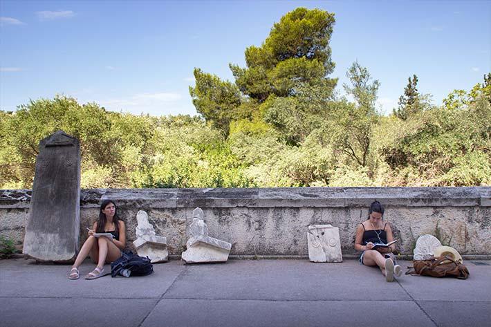 Journaling in Greece