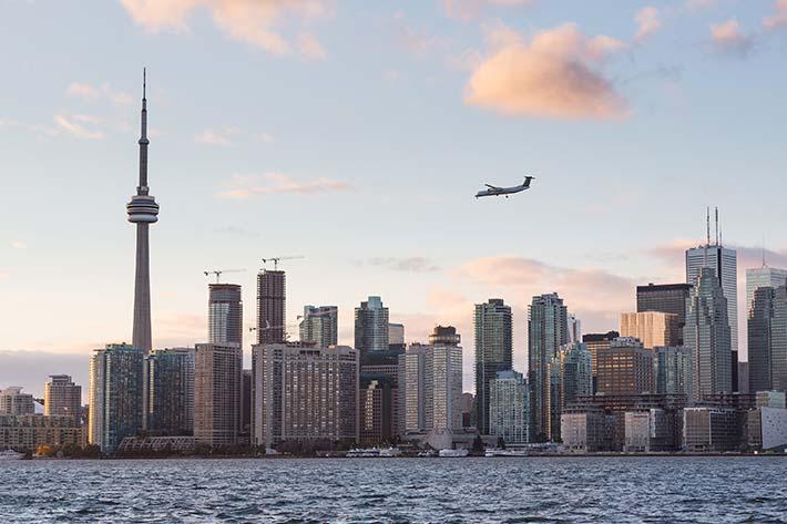 Plane leaving Toronto