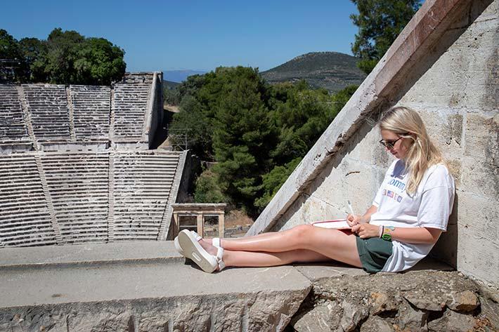 Student journaling