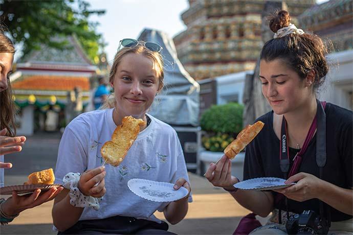 Students enjoying Thai Cuisine